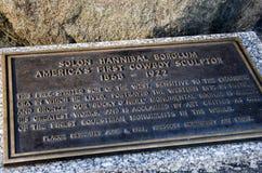 Solon Hannibal Borglum kowboja Scultor prescott Arizona zdjęcia stock