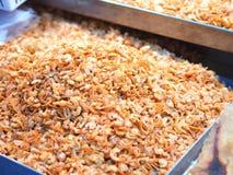 Solona wysuszona garnela, Tajlandzki karmowy składnik Obrazy Royalty Free