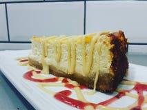 Solony karmelu cheesecake Zdjęcia Royalty Free