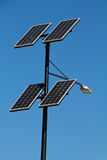 Solor Power Lamp. Close up image of a solar powered street lamp in Utah Royalty Free Stock Images