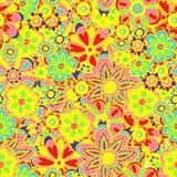 Solorful明亮的花无缝的背景 库存图片