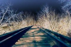 solorized järnväg Royaltyfri Bild