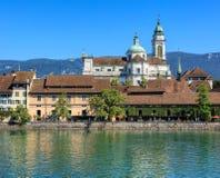 Solothurn cityscape Royaltyfria Foton