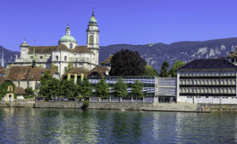 Solothurn cityscape Arkivfoton