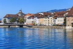 Solothurn cityscape Royaltyfria Bilder