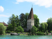 Solothurn river. View of river at Solothurn in Switzerland stock photos