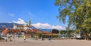Solothurn-Stadtbild Lizenzfreie Stockfotografie