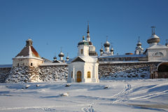solovetsky亲切的修道院 免版税库存图片