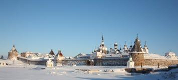 solovetsky亲切的修道院 库存图片