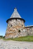 Solovetsky修道院的塔,俄罗斯 免版税图库摄影