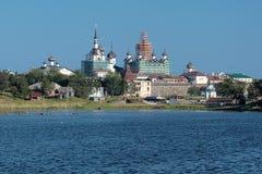 Solovetsky修道院视图从白海的 免版税图库摄影
