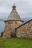 Solovetsky修道院,俄罗斯天使塔  库存照片