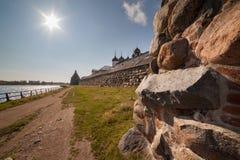 solovetsky的修道院 免版税库存照片