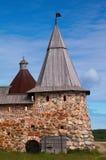 solovetsky πύργοι μοναστηριών Στοκ Φωτογραφία