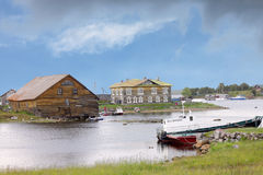 Solovetsky Islands. Bay in the White sea. Russia Stock Images