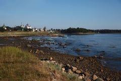 Solovetsky-Kloster, Ansicht vom alten Pier Stockfotos