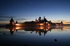 Solovetsky monastery. Russia, Arhangelsk region, Solovetsky Islands (Solovki) in the White Sea. Solovetsky Monastery was founded in the late 1420s. Today, the Royalty Free Stock Images