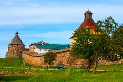 Solovetsky Monastery. stock images