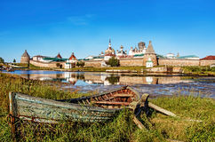 The Solovetsky Monastery on the Solovetsky Islands, Russia. Royalty Free Stock Images