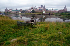 Solovetsky Monastery (Solovki Islands, Russia) stock photo