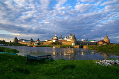 Solovetsky Monastery. The view of Monastery on Big Solovetsky Island royalty free stock image
