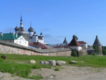 Solovetsky monastery. Was the greatest citadel of Christianity in the Russian North before being turned into a special Soviet prison and labor camp (1926 royalty free stock photo