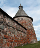 Solovetsky Monastery. White tower Stock Photos