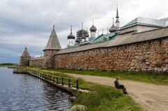 Solovetsky (Spaso-Preobrazhensky) kloster, Ryssland Royaltyfri Foto