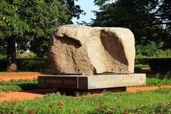 Solovetsky St Petersburg conmemorativo de piedra Rusia imagenes de archivo