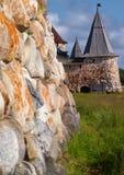 solovetsky torn för kloster royaltyfri fotografi