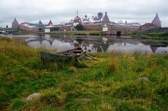 Solovetskyklooster (Solovki-Eilanden, Rusland) Stock Foto