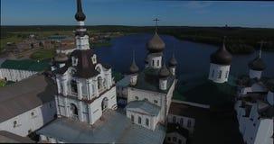 Solovki修道院的看法从鸟` s眼睛视图的 俄国 俄罗斯,阿尔汉格尔斯克州地区 影视素材