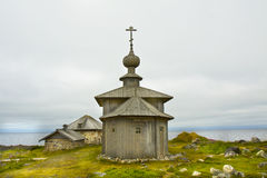 Solovki群岛的,俄罗斯木教会 库存图片