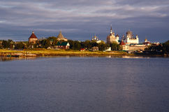Solovki Islands (Russia): Monastery and Settlement Royalty Free Stock Photo