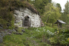 Solovki, Karelia, hobbit dom Obraz Royalty Free