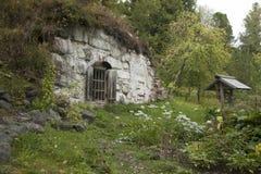 Solovki Karelia, hobbithus Royaltyfri Bild