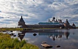 Solovki; Rysk kloster Royaltyfri Fotografi