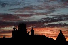 Solovki, Sonnenuntergang Lizenzfreie Stockfotografie