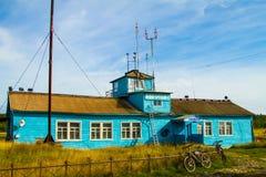 Solovki wyspa, lotnisko Obrazy Royalty Free