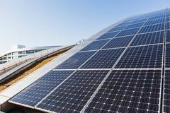 Solpanel alternativ källa av energi Fotografering för Bildbyråer