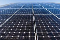 Solpanel alternativ källa av energi Royaltyfri Fotografi