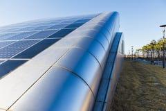 Solpanel alternativ källa av energi Royaltyfria Bilder