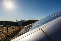 Solpanel alternativ källa av energi Royaltyfri Foto