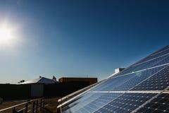 Solpanel alternativ källa av energi Royaltyfria Foton