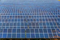 Solpanel photovoltaic alternativ elektricitetskälla Arkivfoton