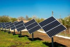 Solpanel photovoltaic alternativ elektricitetskälla Royaltyfri Fotografi