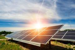 Solpanel photovoltaic alternativ elektricitetskälla Royaltyfri Bild
