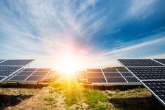 Solpanel photovoltaic alternativ elektricitetskälla Royaltyfria Foton