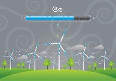 Solpanelenergiuppladdning Vektor Illustrationer
