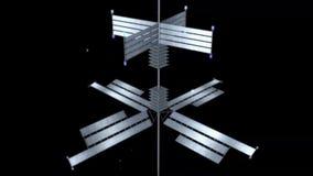 Solpaneler fungerar på svart och på genomskinlig bakgrund stock illustrationer